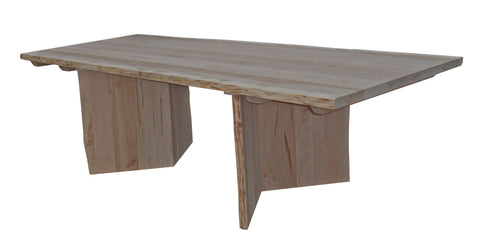 Cascade Live Edge Pedestal Table shown with End Extensions
