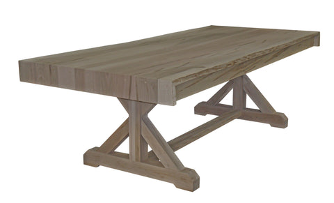 Waterfall Live Edge Trestle Table