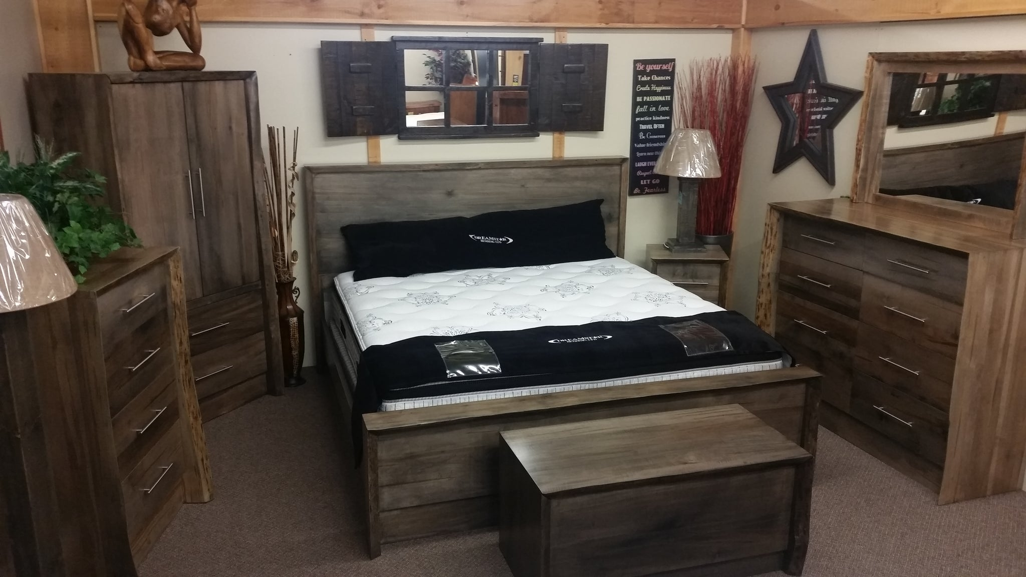 Live Edge Waterfall Bedroom Series