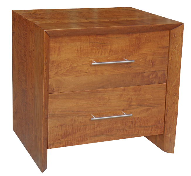 Live Edge Waterfall Filing Cabinet