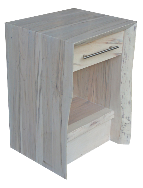 Live Edge Waterfall 1 Drawer Nightstand