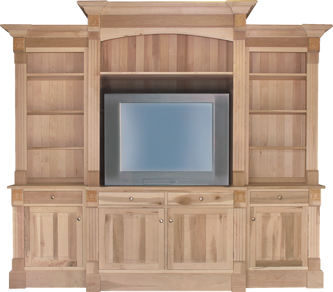 Brentwood TV Wall Unit with Bookcases