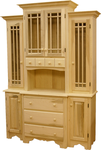 Legacy 2 Door / 3 Drawer Buffet with Hutch