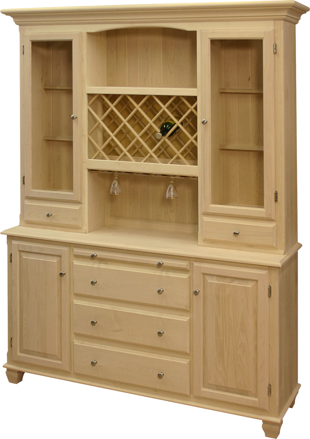 Legacy 4 Door Buffet with Hutch and Wine Rack