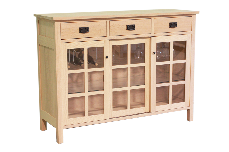 Mission Sideboard with Sliding Doors