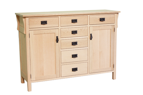 Mission 2 Door 7 Drawer Sideboard