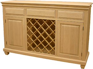 Florentino 2 Door Buffet with Wine Rack