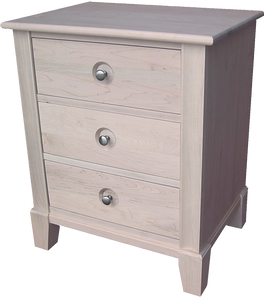 New Yorker 3 Drawer Nightstand