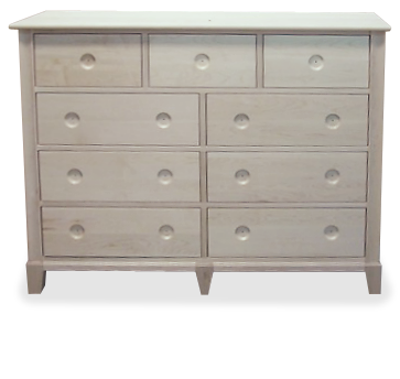 New Yorker 9 Drawer Double Dresser