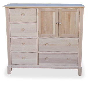 New Yorker 6 Drawer 2 Door Mule Chest