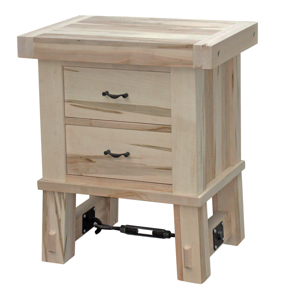 Yukon Turnbuckle 2 Drawer Nightstand