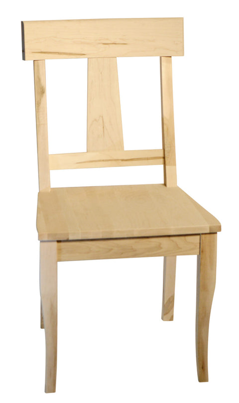 Andrew Side chair in unfinished maple