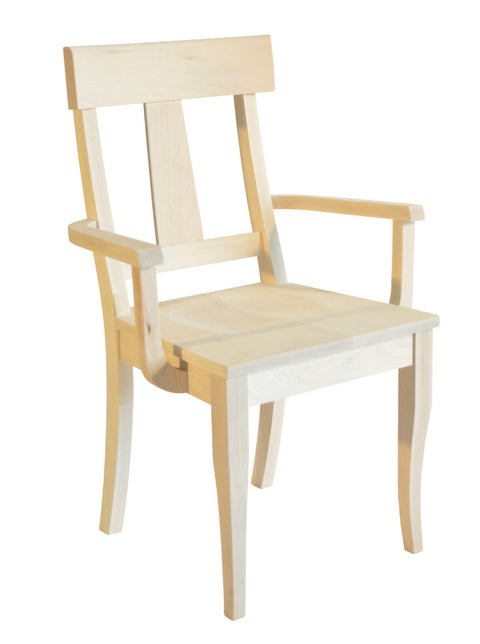 Andrew Arm chair in unfinished Maple