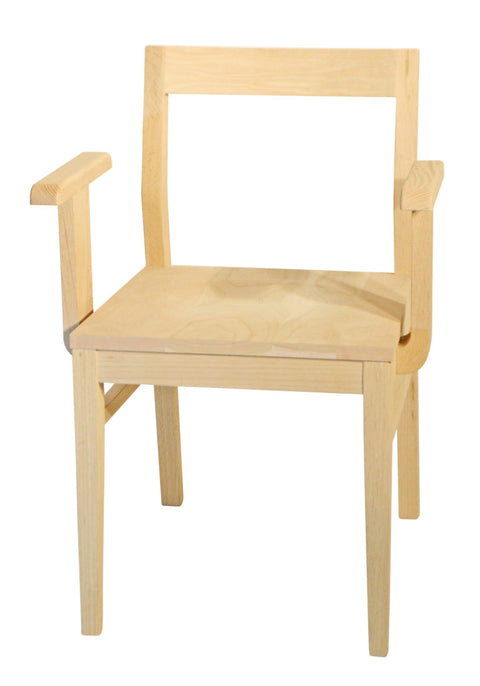 Anthony arm chair in unfinished maple