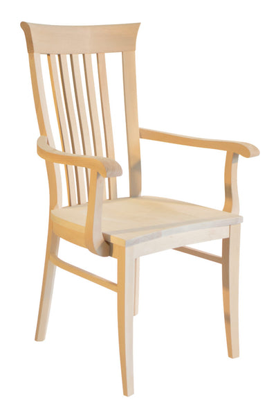 Athena Arm Chair Unfinished Maple