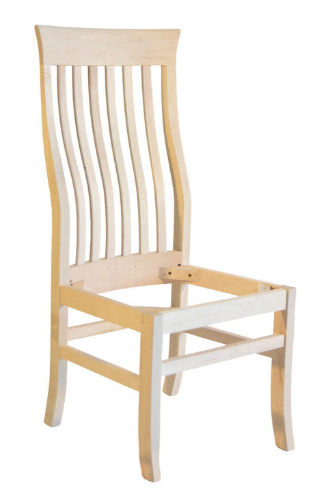 Athena Dickson side chair (no seat) in unfinished maple
