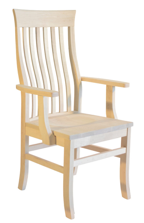 Athena Dickson Arm Chair in unfinished maple