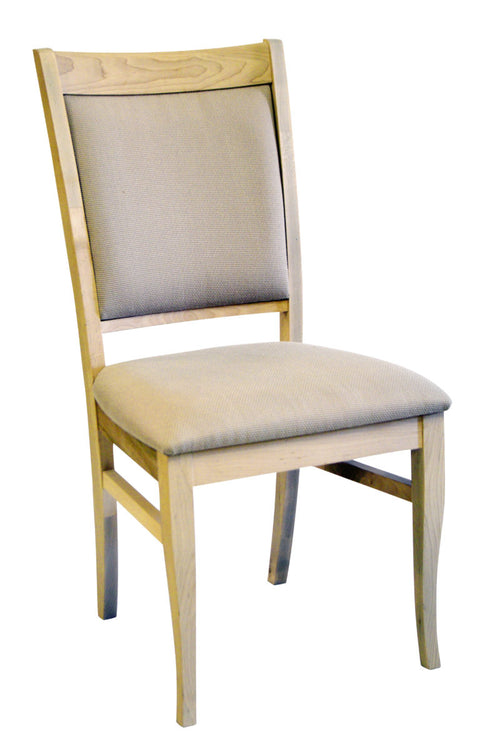 Ayrdale side chair in unfinished maple (with fabric seat)