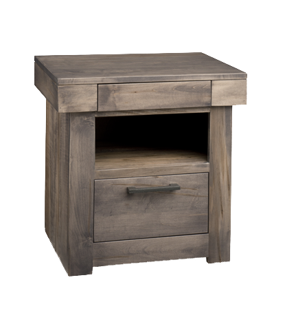 Baxter 2 Drawer Open Nightstand