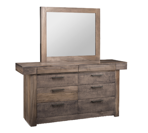 Baxter 8 Drawer Dresser with Landscape Mirror (N-BA9)