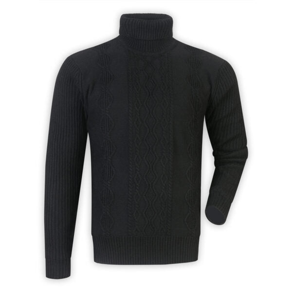 Lined Turtleneck Sweater