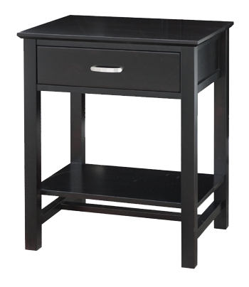 Brooklyn 1 Drawer Open Nightstand