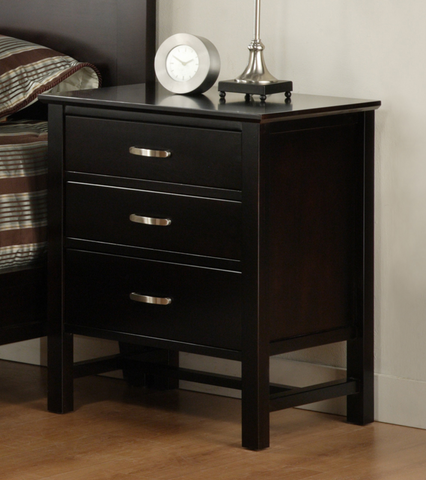 Brooklyn 3 Drawer Nightstand