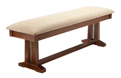 "Brooklyn Fabric Dining Bench 60""W"