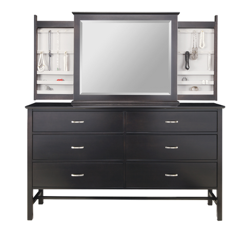 6 Drawer Dresser with Hidden Jewellery Mirror