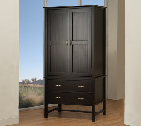 Brooklyn 2 Drawer 2 Door Armoire