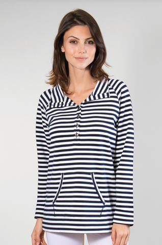 Nautical Button Up Pullover