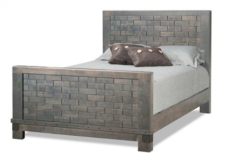 Barrelworks High Footboard Bed Wood Headboard