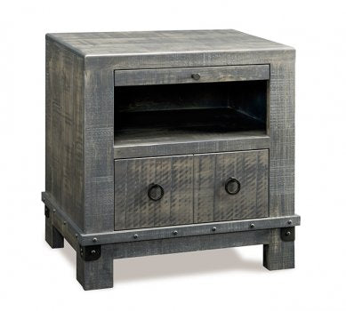Barrelworks 1 Drawer Open Nightstand