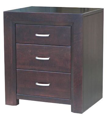 Contempo 3 Drawer Nightstand