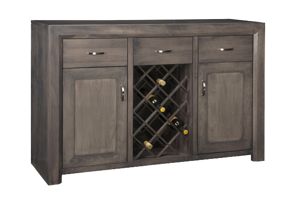 Contempo 3 Drawer 2 Door Sideboard With Wine Rack