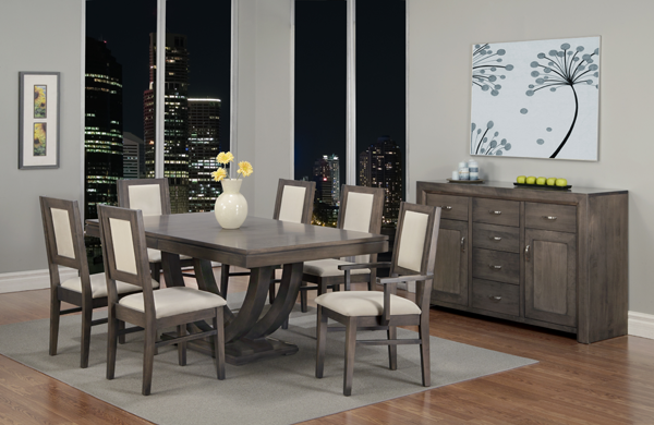 Contempo Pedestal Table Dining Room