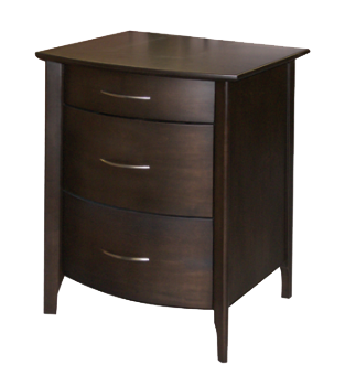 Demi-Lune 3 Drawer Nightstand