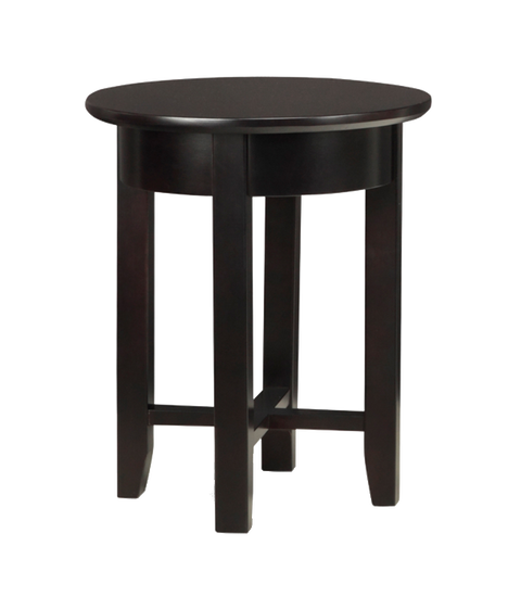 Demi-Lune Round Chair Side Table