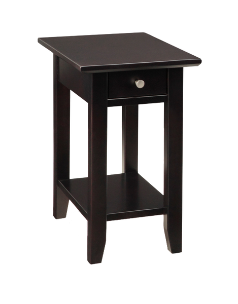 Demi-Lune Square Chair Side Table