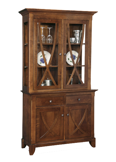 Florence 2 Drawer 4 Door Buffet with Hutch