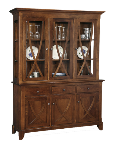 Florence 3 Drawer 6 Door Buffet with Hutch