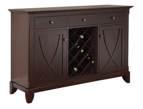 Florence 3 Drawer 2 Door Sideboard with Wine Rack