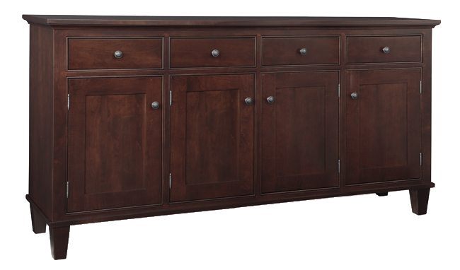 Georgetown Sideboard with Wood Centre Doors