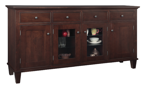 Georgetown Sideboard with Glass Centre Doors