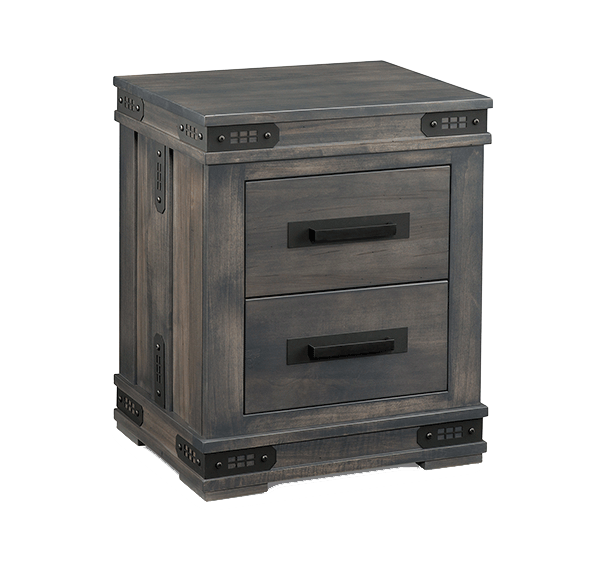 Gastown 2 Drawer Nightstand