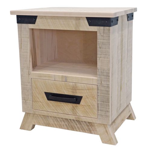 Hamilton 1 Drawer Open Nightstand (Angled feet)