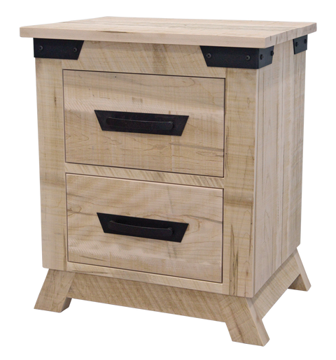 Hamilton 2 Drawer Nightstand (Angled feet)
