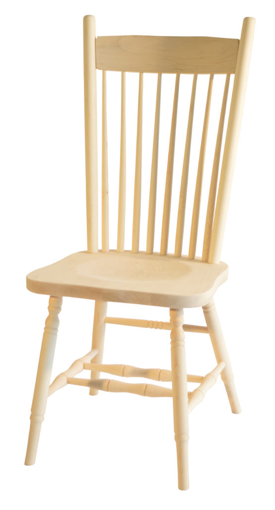 High Back Plain Side Chair