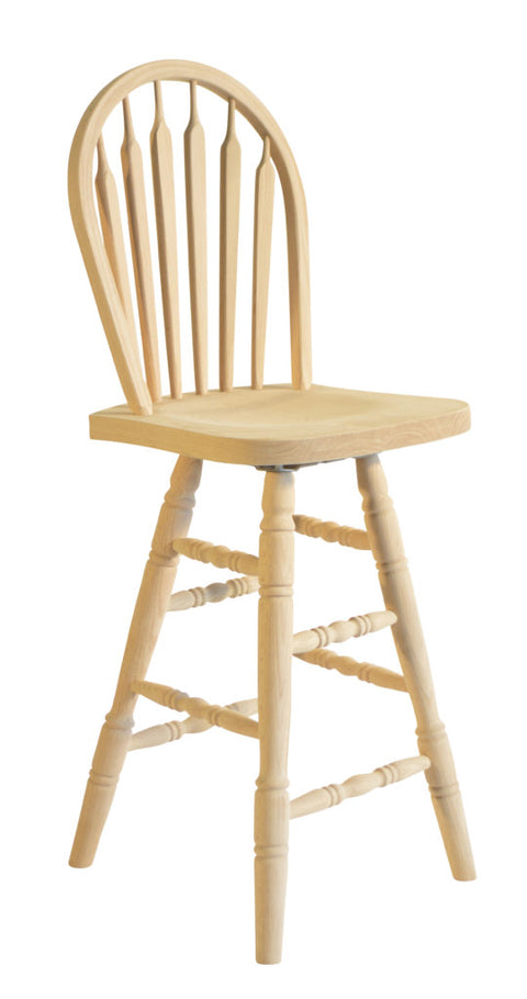 Hoop Back Swivel Bar Stool