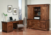 Executive Desk and Credenza with Hutch